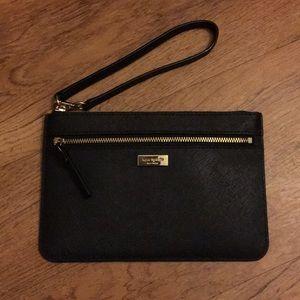 Kate Spade Wristlet Black Zip Brand New